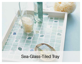 Sea-Glass Tiled Tray