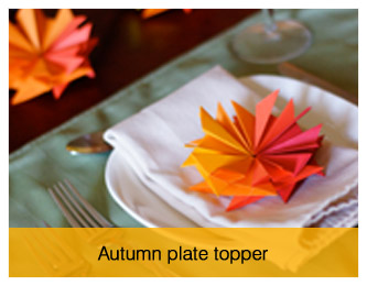 autumn plate topper