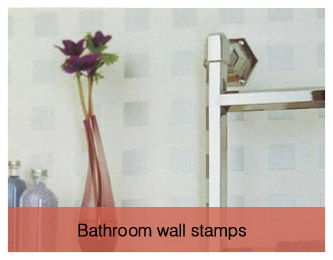 Bathroom wall stamps