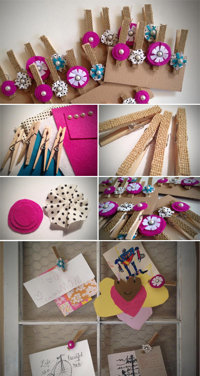 embellished clothespin