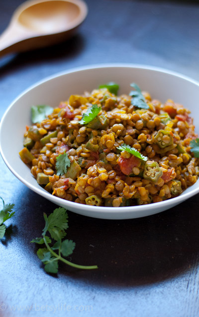 Lentil Curry with Okra
