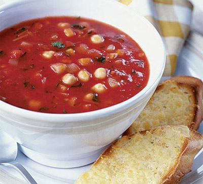 Vegetable Soup with Cheesy Toasts